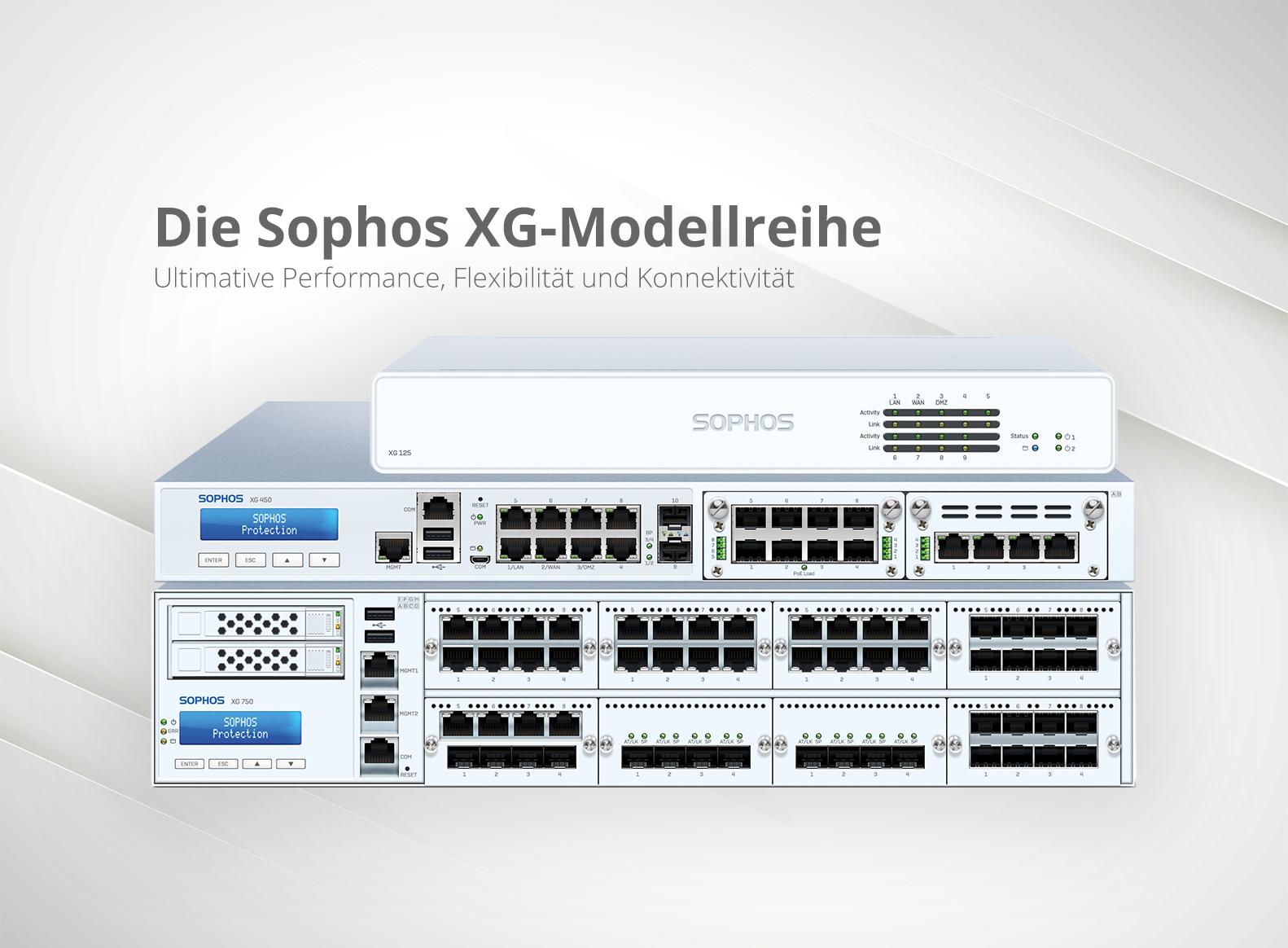 Die Sophos XG-Modellreihe